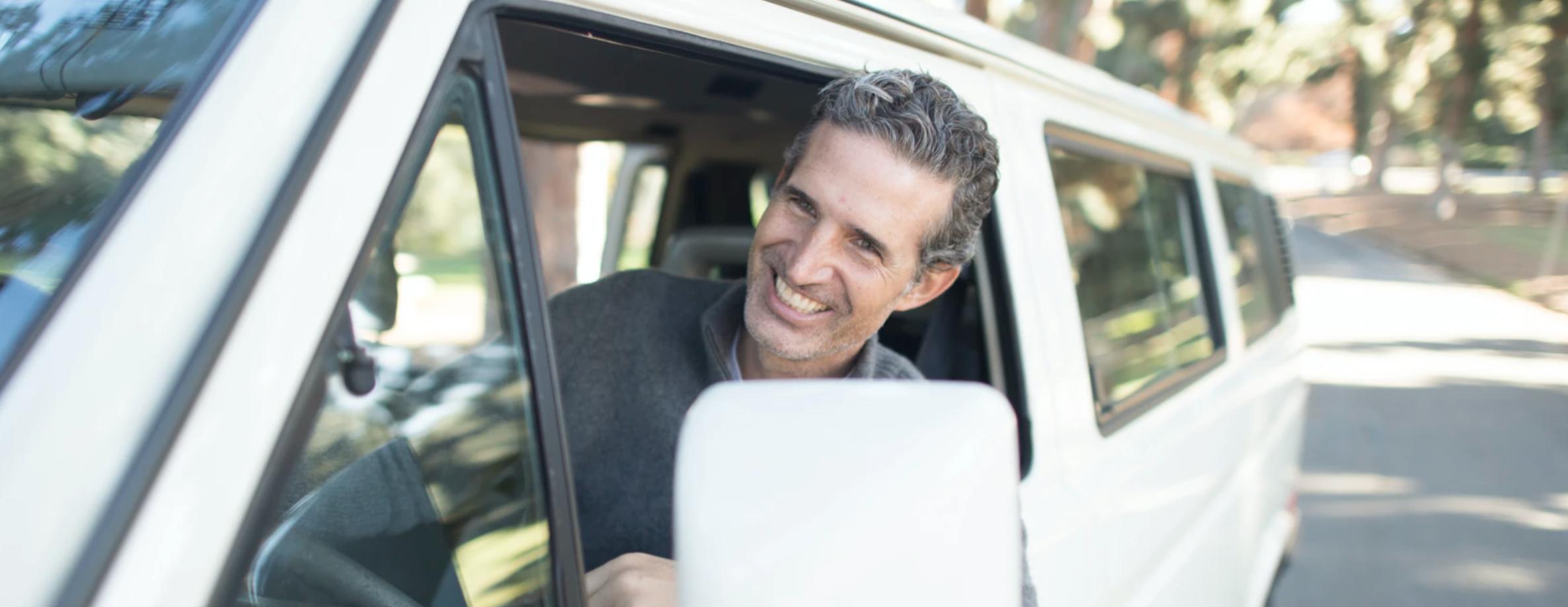 man getting New auto loan