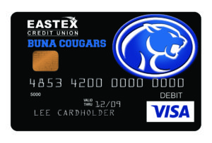 eastex fcu bisd cougars card