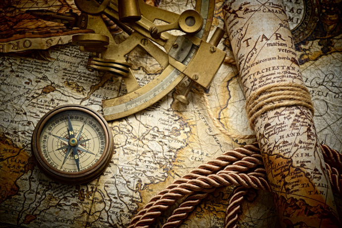 Columbus Day, Maps, Compus, Rope