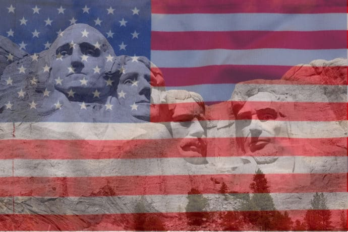 Mount Rushmore, American Flag
