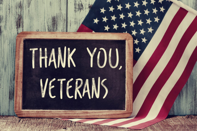thank you, veterans, american flag