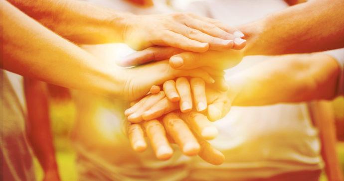 community, hands, hands stacked
