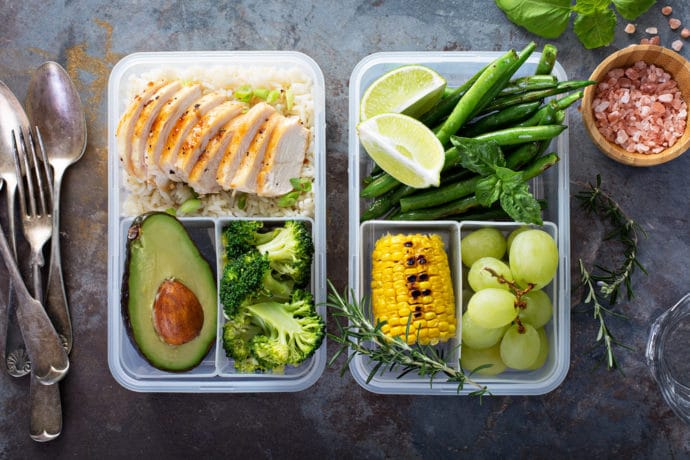 meal prepping, containers, food prep, healthy food